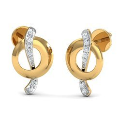 Trendy 14k Diamond Earring
