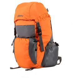 Orange & Grey Bleu Light Weight Foldable Rucksack Bag