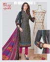 Balaji Cotton Pure Cotton Printed Dress Material With Chiffon Dupatta With Lace