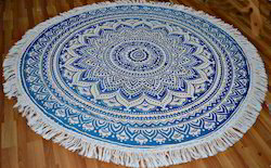 Ombre Print Round Tapestry