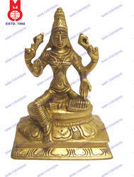 Laxmi Sitting On SQ. Base Statue