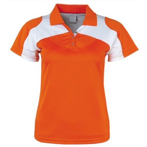 c07aad23f Orange And White Women's Polo T- Shirt, Rs 160 /piece, We Grow ...
