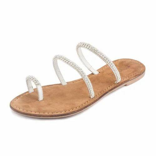 Gekko Chick White Sandals, Designer