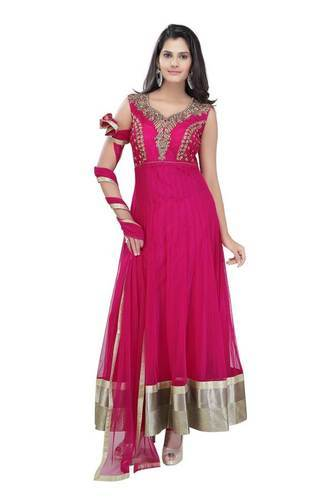 3e270f270a Readymade Megenta Net Anarkali Churidar Suit at Rs 2600 /piece ...