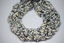 Dendritic Opal Faceted Rondelle Beads Strand