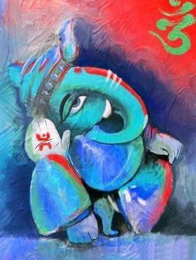 Lord Ganesha Oil Painting at Rs 2450/no(s) | तेल से बनी ...