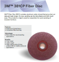 3M 381CP Fiber Disc