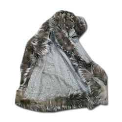 Merino Super Wool Silver Fox Fur Scarves