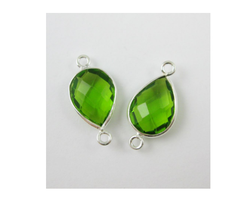 Peridot Pave Set Connector
