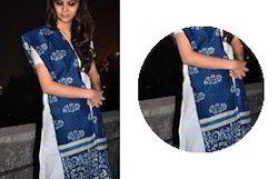 Blue & White Chanderi Dupatta