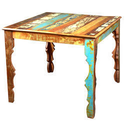 Restaurant And Hotel Natural Reclaimed Wood Antique Dining Table, For And Restaurant