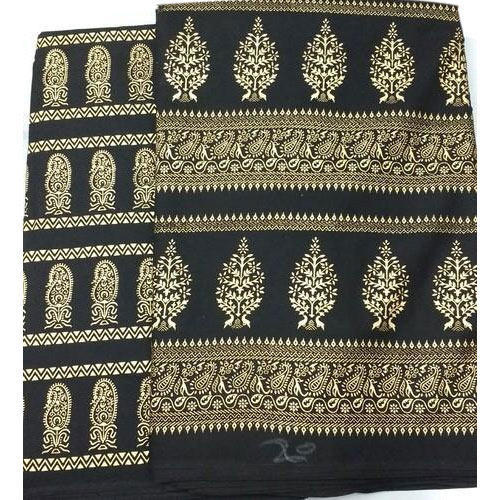 Black Gold Printed Kurti Fabric at Rs 68 /meter | Black Gold Fabric ...