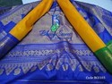 Gadwal Silk Traditional Yellow Saree