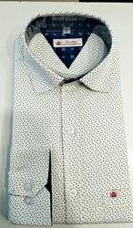 Cotton Printed Muscari Smart Shirt