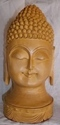 Wooden Buddha Head Face