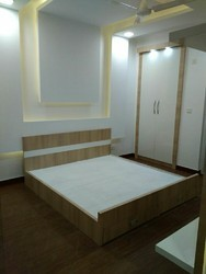 Modern Wooden Bed, Size: 6'x6'