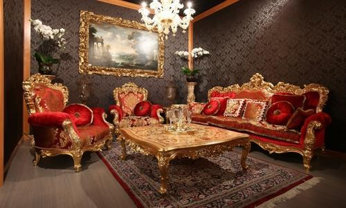 Gold Plated Sofa