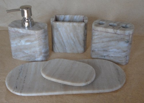 Marble Bath Accessories - Handicraft Bath Items Exporter from Jaipur