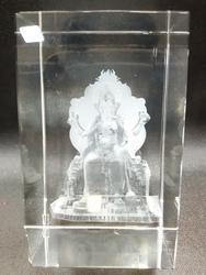 Crystal 3D Ganesh Statue