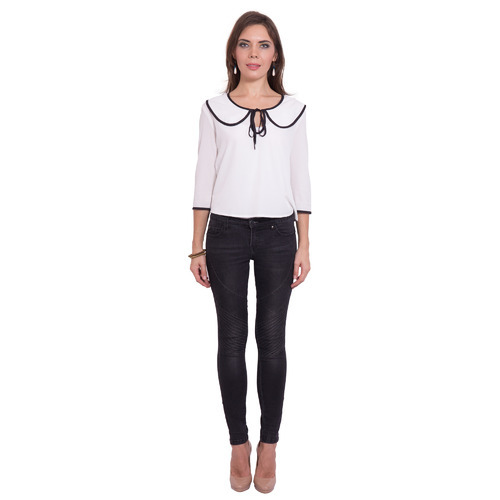 709bff8a1 Casual 3 4 Sleeve Solid Women s White Top at Rs 395  piece(s ...