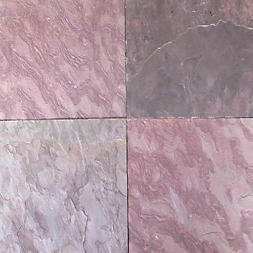 Elegant Polished Pink Gray Slate Stone Tiles, Thickness: 10-45 Mm