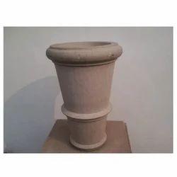 Beige Stone Vase