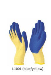 Para-Aramid Knitted Gloves with Crinkled Latex Coating