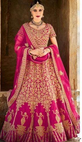 0b61270f0a80 Magenta Designer Wedding Lehenga at Rs 8499 /piece   दुल्हन ...