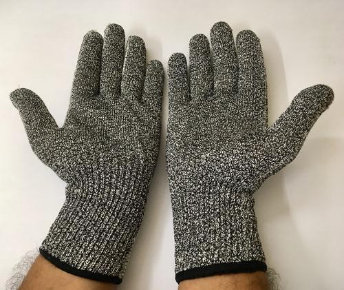 Cut Resistant Safety Hand Gloves Hppe Yarn Knitted