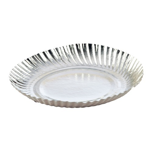 Silver Plain Printed Disposable Paper Plate  sc 1 st  IndiaMART & Silver Plain Printed Disposable Paper Plate Rs 7 /pack | ID ...