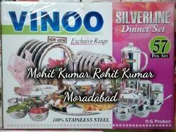 Stainless Steel Round Plate Dinner Set