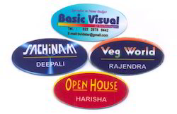 Oval Name Badges