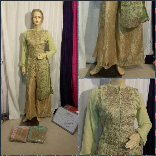 ea254ee93a Chanderi Party Wear Sharara Heavy Suits, Rs 3645 /piece, Mahalakshmi ...