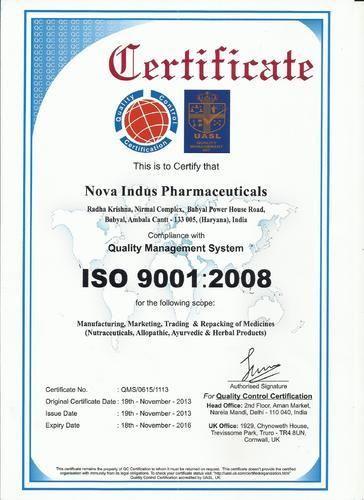 Nova Indus Pharmaceuticals - Manufacturer from Babyal, Ambala, India
