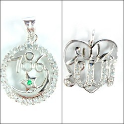 925 Silver 786 Allah Pendants