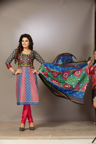 Cotton Printed Salwar Suit, Size: S & XL