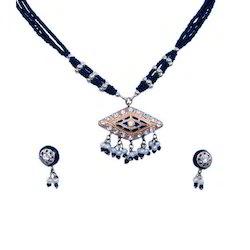 Jaipuri Pendant Earrings Set 158