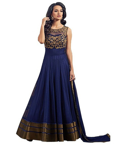 Ledies Embroidered Designer Gown at Rs 799 /piece ...