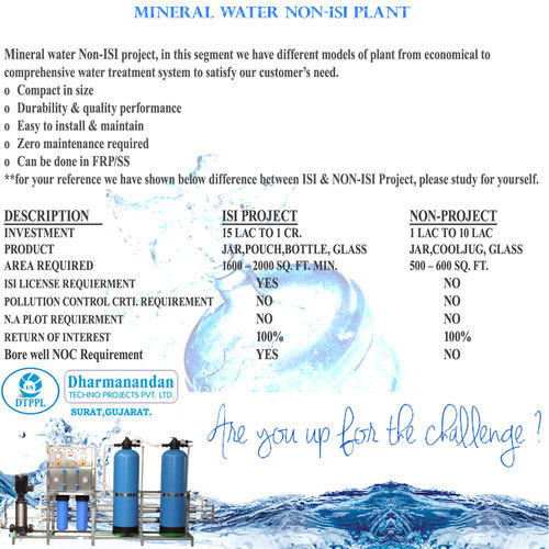 Drinking water plant business plan