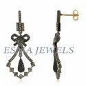 Pave Ribbon Earring