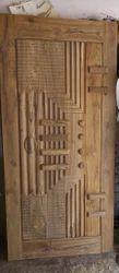 Exterior 3D Carving Sagwan Wood Door