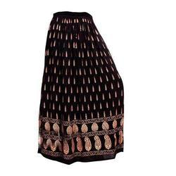 Black Printed Long Skirt