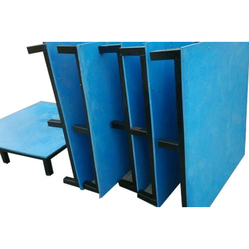 Blue Plastic Solid Pallet, Shape: Rectangular