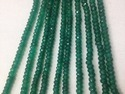 Green Onyx Faceted Big Size Rondelle Beads Strands 6-12 Mm