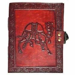 Camel Embossed Leather Journal