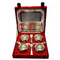 Silver Plated Four Piece Handi Set With Tray