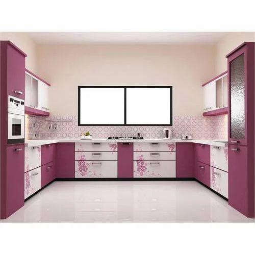U Shaped Modular Kitchen: Modern U Shaped Modular Kitchen Cabinet, Aaica Modular
