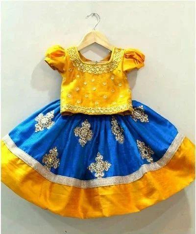 e11c7dbc5d Yellow Printed Pattu Pavadai Kids Dress, Rs 1100 /number, World Of ...