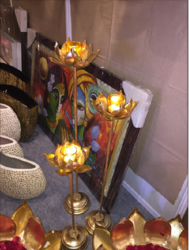 Flower Candle Stand ( Set of 3)