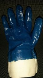 Blue and White Nitrile Cut Resistant Hand Gloves